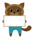 blankt katttecken Royaltyfri Illustrationer