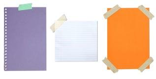 blankt klibbat band för samling papper Royaltyfri Bild