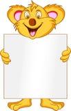 blankt koalatecken Arkivbild