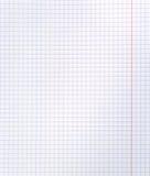blankt kvadrerat anteckningsbokark arkivbilder