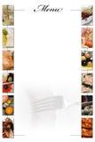 blankt menyavstånd som ska skrivas Royaltyfria Bilder
