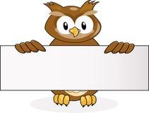 blankt owltecken Fotografering för Bildbyråer