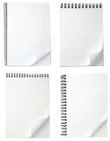 blankt papper för krullningsanteckningsbokkontor Arkivbild