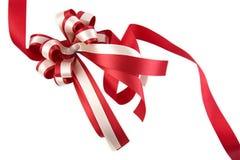 blankt rött band för bow Arkivbild