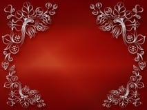 Blankt rött dekorativt Arkivbilder