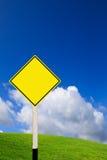 blankt vägmärke Fotografering för Bildbyråer