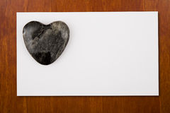 Blannk Card with Stone Heart Stock Photos