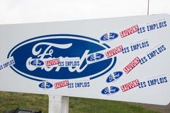Blanquefort Μπορντώ, Aquitaine/Γαλλία - 06 14 2018: Η διαχείριση της Ford παραγωγής κιβωτίων ταχυτήτων αυτοκινήτων εργοστασίων πα στοκ φωτογραφίες