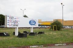 Blanquefort-Bordeaux, Aquitanien Frankreich - 06 14 2018: Autofabrik US Ford von Blanquefort, Süd-Frankreich, Stockfotos