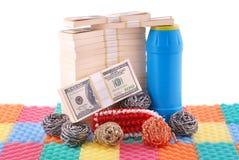 Blanqueo de dinero Imágenes de archivo libres de regalías