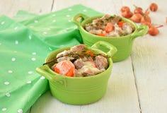 Blanquette του μοσχαρίσιου κρέατος Παραδοσιακή γαλλική κουζίνα Στοκ Εικόνες