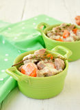 Blanquette του μοσχαρίσιου κρέατος Παραδοσιακή γαλλική κουζίνα Στοκ Εικόνα