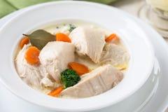 Blanquette del pollame, stufato della carne bianca Fotografia Stock