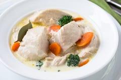 Blanquette del pollame, stufato della carne bianca Immagini Stock