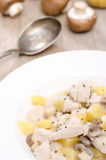 Blanquette from turkey with potatoes Royalty Free Stock Image