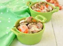 Blanquette of veal. Traditional French cuisine.  Royalty Free Stock Photos