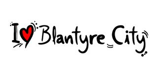 Blantyre City love message Stock Photography