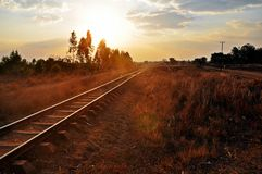 Blantyre (Malawi) till Nampula (Mocambique) järnväg Arkivbilder