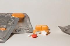 Blaren van pillen Royalty-vrije Stock Afbeelding