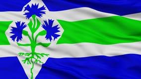 Blaricum stadsflagga, Nederländerna, Closeupsikt royaltyfria foton