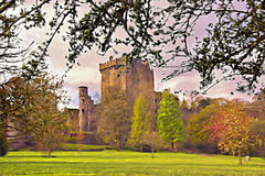 Blarney. Digital painting from photograph of Blarney Castle, Co.Cork, Ireland Royalty Free Stock Image