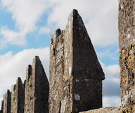 Blarney Castle Ireland. Stone structures with lichens on roof of Blarney Castle Ireland Royalty Free Stock Images