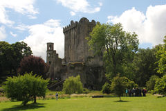 Blarney Castle. (Irish: Caisleán na Blarnan) is a medieval stronghold in Blarney, near Cork, Ireland, and the River Martin. Though earlier fortifications were Stock Images