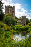 Blarney Castle and Watch Tower. The historic Blarney Castle and Watch Tower stand amid the lush gardens surrounding it Stock Images