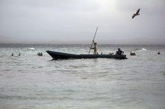 Рыболовы в Сан Blas, Панаме Стоковые Изображения RF