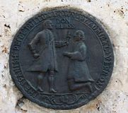 Blas de Leso Monumento in Cartagena. Fragment. Royalty Free Stock Images