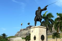 Blas de Leso Monumento in Cartagena Stock Images