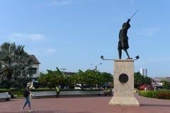 Blas de Leso Monumento i Cartagena arkivbild