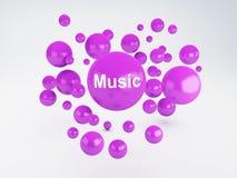 Blase der Musikikone Mieten legten digital Bild fest Stockbild