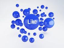 Blase des Blaus mögen Ikone Mieten legten digital Bild fest Lizenzfreie Stockfotos