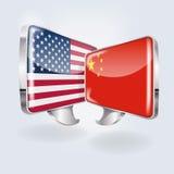 Blasen auf chinesisches und amerikanisch Lizenzfreie Stockfotos