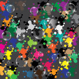 Blasen auf farbigem Hintergrund Stockbild