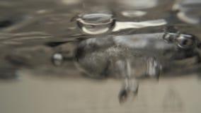 Blasen des kochenden Wassers Chinesische Teezeremonie stock footage