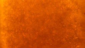 Blasen, die oben in das flüssige Getränk schwimmen stock footage