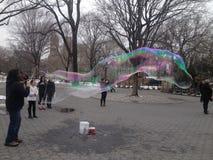 Blasen-Mann-Central Park lizenzfreies stockfoto