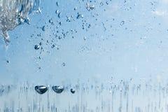 Blasen von luftgefroren im Eis entziehen Sie Hintergrund Lizenzfreies Stockfoto