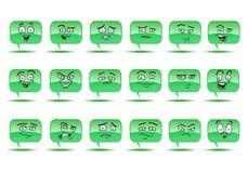 Blasengesprächsavatara-Ikonensatz Lizenzfreies Stockbild