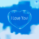 Blasenherz am Himmel in der Liebe Lizenzfreie Stockbilder