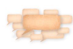 Blasenrede gemacht vom Papier Stockfotografie