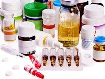 Blasensatz Pillen. Medikament. Stockfotografie