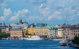 Blasieholmen in Stockholm Zweden stock afbeeldingen