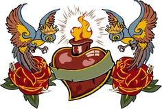 blasing miłość tatuaż Obrazy Royalty Free