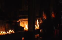 blask świecy ja modli się Zdjęcia Stock