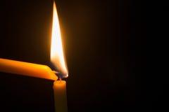 Blask świecy z świeczką obrazy royalty free