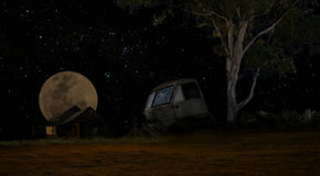 Blask księżyca ciężarówka Zdjęcie Stock