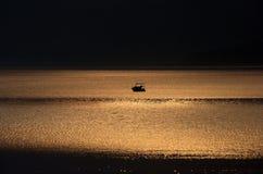 Blask księżyca na morzu zdjęcia stock